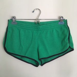 Forever 21 Green Shorts with Blue Lining Large